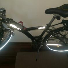 Bicicleta B'Twin Original 5 Daily impecabila + accesorii - Bicicleta Dama, 12 inch, Numar viteze: 21