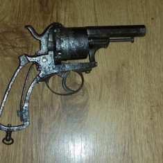 Pistol antic belgian 1897-98 pinfire revolver