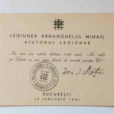 LEGIONARI-ION MOTA-VASILE MARIN-CARNET LEGIONAR-BUCURESTI-1941