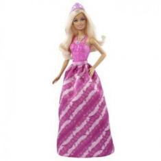 Papusa Barbie Printesa la petrecere - Rochie roz cu flori, 4-6 ani