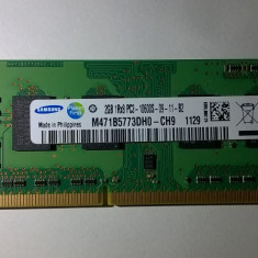Ram laptop Samsung 2GB PC3-10600 DDR3 1333Mhz M471B5773DH0-CH9 Sodimm - Memorie RAM laptop