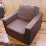 Fotoliu stofa maro Mobexpert pentru living, sufragerie sau dormitor - Fotoliu living Relax