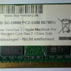 Cumpara ieftin 2Gb Memorie laptop DSP Germany Apple DDR2 2GB PC2-5300 667MHz SoDimm Imac