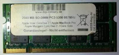 2Gb Memorie laptop DSP Germany Apple DDR2 2GB PC2-5300 667MHz SoDimm Imac foto