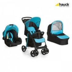 Set Carucior Shopper SLX Trioset Caviar Aqua - Carucior copii 3 in 1 Hauck