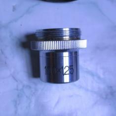 Obiectiv IOR 100x pt. microscop . La cutie, in stare buna