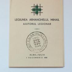 LEGIONARI-C ZELEA CODREANU-CARNET AJUTORUL LEGIONAR-ALBA IULIA -1 DECEMBRIE 1940
