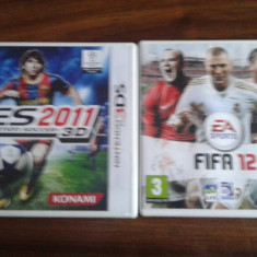 Fifa 12, PES 2011 Nintendo 3DS.