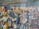 Tablou-Hora taraneasca, Scene gen, Ulei, Realism