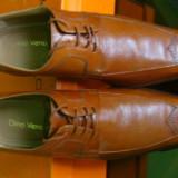 Pantofi piele vitel,, 42, Coniac