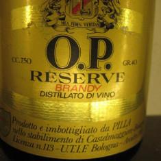 Brandy oro pilla RISERVA distillato di vino, cl 75 gr 40 ani 1970-1980 - Cognac