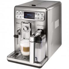Espressor automat Philips Saeco Exprelia HD8858/01, Dispozitiv spumare, Functie Cappuccino, Rasnita ceramica, 15 Bar, 1.5 l, Carafa lapte integra