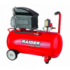 Compresor de aer 8 bar, 1500 W, 50 L Raider RD-AC02 - Compresor electric Raider Power Tools