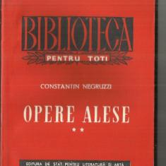 [BPT] OPERE ALESE VOL II - CONSTANTIN NEGRUZZI - Carte poezie