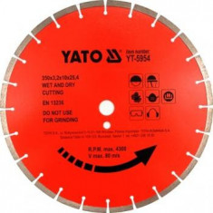 Disc Yato diamantat pentru beton YT-5956, 450X25, 4MM - Slefuitor