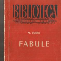 [BPT] FABULE - A. DONICI - Carte poezie