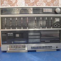 Boombox ghettoblaster Philips D-8644 cu boxe detasabile - Casetofon