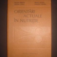 IULIAN MINCU * ELENA POPA - ORIENTARI ACTUALE IN NUTRITIE - Carte Alimentatie