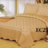 Cuvertura de pat din bumbac brodat + 2 fete perna EC25 - Cuvertura pat