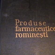 PRODUSE FARMACEUTICE ROMANESTI-PROF DR. MARIN VOICULESCU-DR. CARLI MARCU-, Alta editura