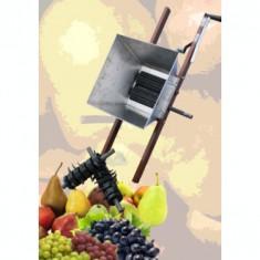 Zdrobitor manual de struguri cu accesorii pentru fructe(2 in 1), aprox. 200 kg/h - Zdrobitor struguri