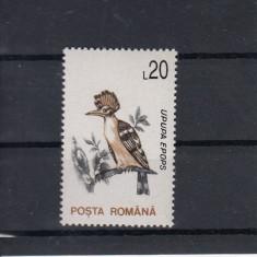 ROMANIA 1993, LP 1314, PASARI, VAL. 20 LEI HARTIE CRETATA MNH - Timbre Romania, Nestampilat