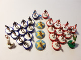 Joc vechi colectie - Fotbal jucatori figurine Subbuteo, similar fotbal nasturi