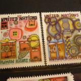 NATIUNILE UNITE NEW YORK 1983 – DREPTURILE OMULUI, serie nestampilata UN21 - Timbre straine