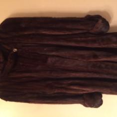 Haina blana nurca - Palton dama, Marime: M/L, Culoare: Maro