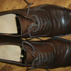 Pantofi barbati de designer HENDERSON BAROCCO 41, retail 465 euro - Pantof barbat, Culoare: Maro