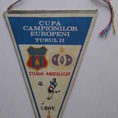 Fanion Steaua Bucuresti - Anderlecht, Cupa Campionilor Europeni 1986 - Fanion fotbal