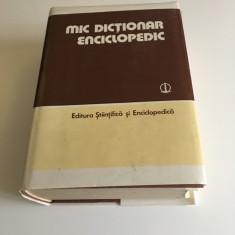 Mic Dictionar Altele enciclopedic editia trei 1986.