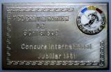 5.155 ROMANIA PLACHETA SPORT SCHI BOB CONCURS INTERNATIONAL RPR 1961 68/44mm