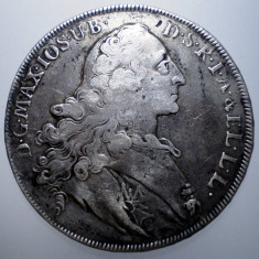 G.241 GERMANIA BAVARIA MAXIMILIAN III JOSEF 1 THALER TALER 1767 ARGINT 27, 9g - Moneda Medievala, Europa