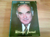 ULTIMUL JURNAL-IOSIF SAVA