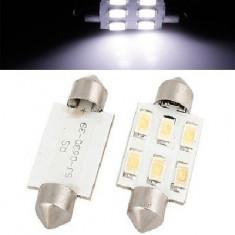 Bec LED C5W 6x SMD5630 36mm Alb Rece 6000k Xenon - Led auto EuropeAsia, Universal