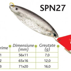 Lingurite oscilante Spn 27 Baracuda 7g/12g/16g - Momeala artificiala Pescuit
