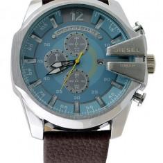 CEAS BARBATESC DIESEL ONLY THE BRAVE TIMEFRAME DZ-4281 OVERSIZE BLUE-MODEL NOU, Casual, Quartz, Inox, Piele, Data