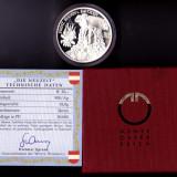 20 EURO 2002 UNC argint 18 gr.900/1000 certificat+cutie Austria Eugen de Savoya, Europa