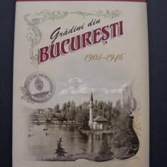 Gradini din Bucuresti 1905 - 1946. Lot 9 carti postale in cutie de protectie, Necirculata, Ambele, Romania 1900 - 1950