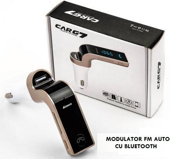 4-in-1 Bluetooth Wireless FM Transmitter Handsfree G7 AUX Modulator Car Kit MP3