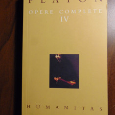 Platon - Opere complete, vol IV (4), Humanitas, 2004