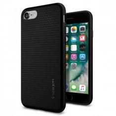 Husa telefon Apple iPhone 7 Plus Spigen Liquid Armor negru 042CS20511 originala, Silicon, Fara snur