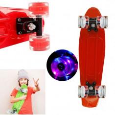 Penny Board/SkateBoard, roti 22 cu leduri, Marime: 50