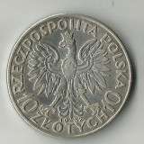 10 ZLOTI, ZLOTY, 1932, ARGINT, POLONIA, 21, 85 GRAME., Europa
