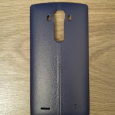 Capac spate albastru din piele pentru LG G4 cu suport NFC - Capac baterie