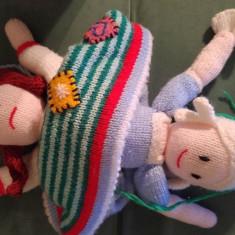 DD - Papusa dubla tricotata, Cenusareasa (fata trista si fata vesela), 38cm