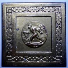 5.128 ROMANIA PLACHETA SPORT SCHI CUPA FEDERATIEI 1965 45/45mm - Medalii Romania
