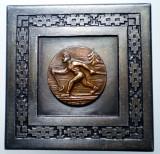 5.146 ROMANIA PLACHETA SPORT SCHI CONCURS CENTRE COPII 1965 45/45mm