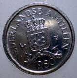 7.734 ANTILELE OLANDEZE 10 CENTS 1980 XF/AUNC, America Centrala si de Sud, Cupru-Nichel
